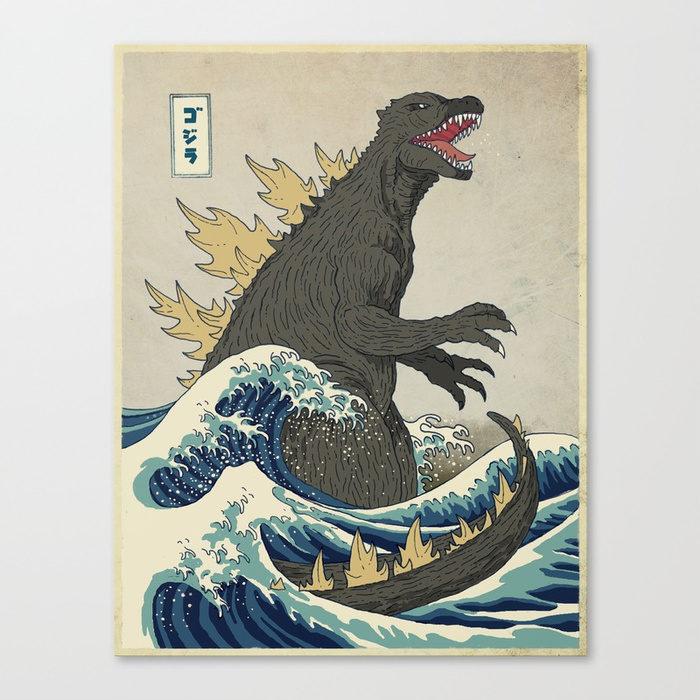 Godzilla heading to shore