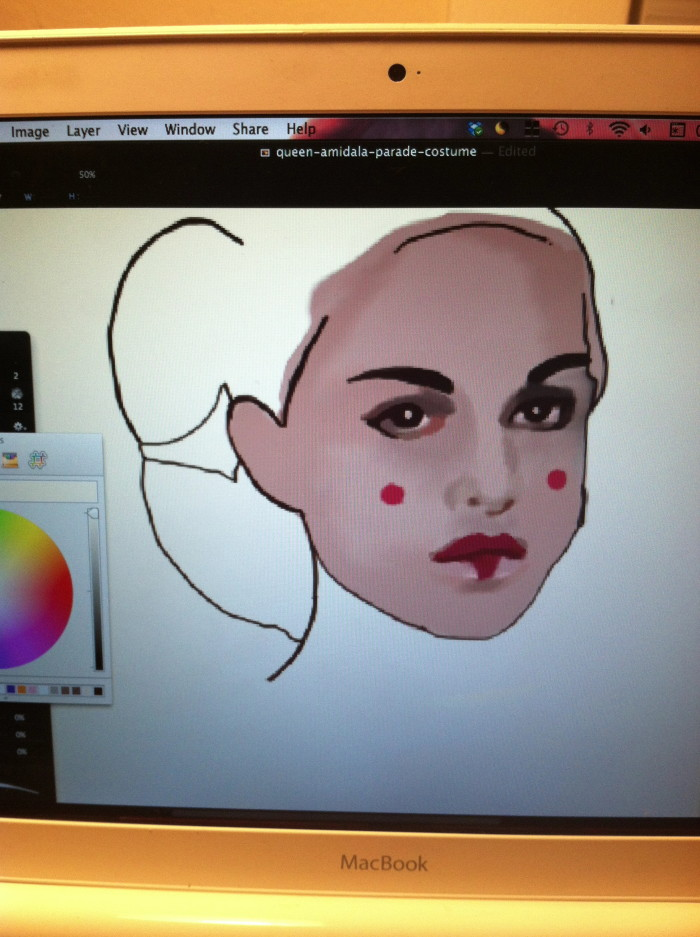 Queen Amidala Work in Progress